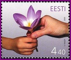 Эстонская почтовая марка