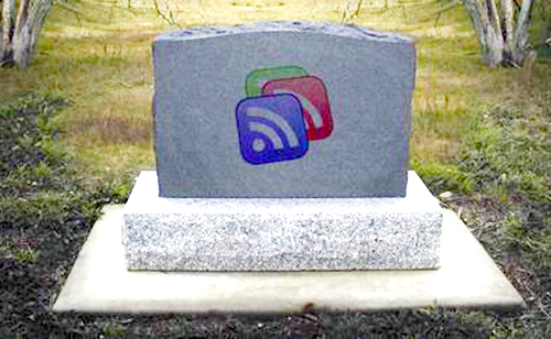 Могильная плита Google Reader