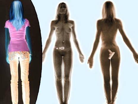 Фальшивый снимок с раздевающего сканера - инверсия цвета