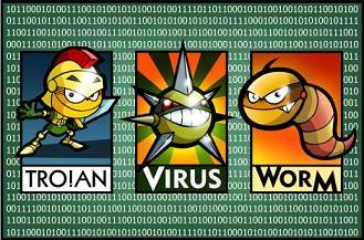 Троянец, вирус, червь
